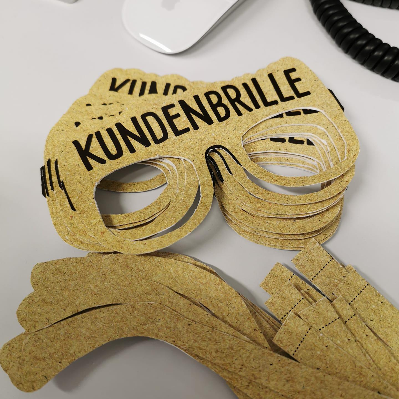 Kundenbrillen, die beim Markenworkshop der Werbeagentur KOCH ESSEN eingesetzt werden.