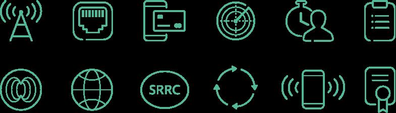 Eigens illustrierte SVG-Icons visualisieren die Leistungsbereiche des Kunden - hochmodern und anwenderfreundlich