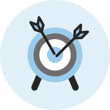 Icon einer Zielscheibe für Vertriebsworkshops bei KOCH ESSEN.